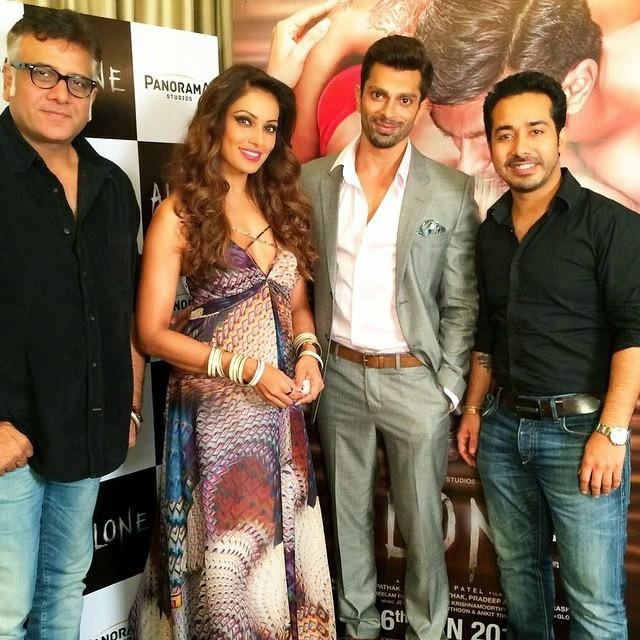 Bipasha Basu and Karan Singh Grover at the trailer launch of ALONE