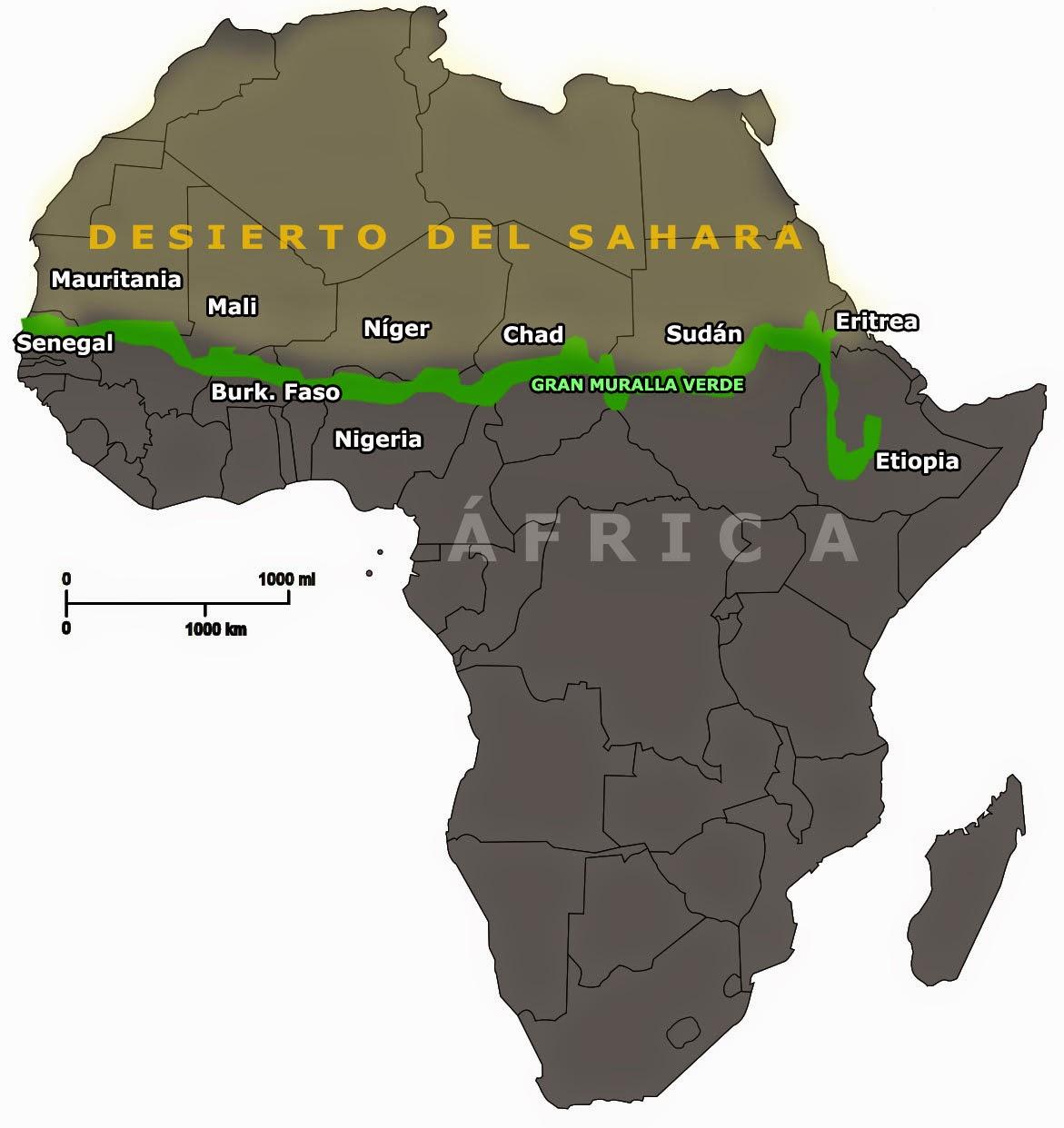 Desierto Del Sahara Mapa.Descubre Tu Mundo Africa Construye Una Gran Muralla Verde