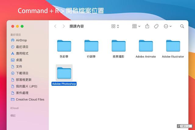 【MAC 幹大事】用 Spotlight 功能讓 Mac / MacBook 做事更有效率 - 開啟檔案位置方便即時管理或使用