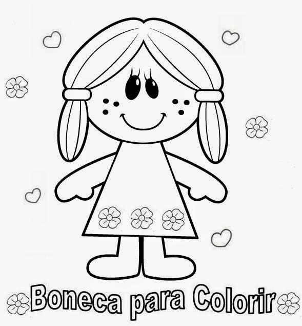 Desenhos Para Pintar Desenhos De Bonecas Para Colorir