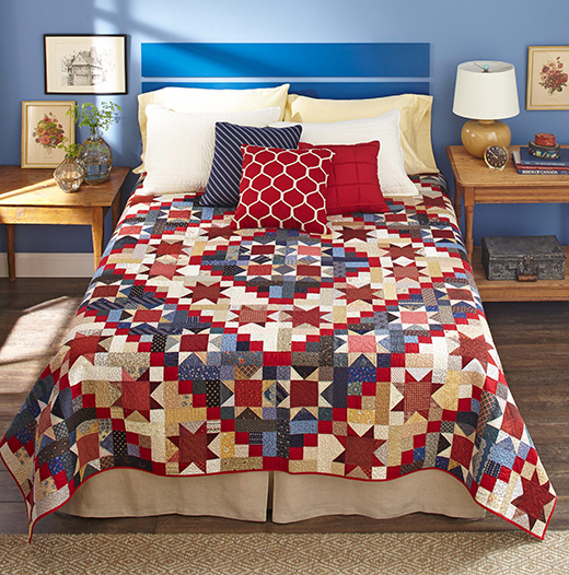 Stars & Scraps Forever Quilt designed Jo Kramer and Kelli Hanken of Jo's Country Junction for All People Quilt