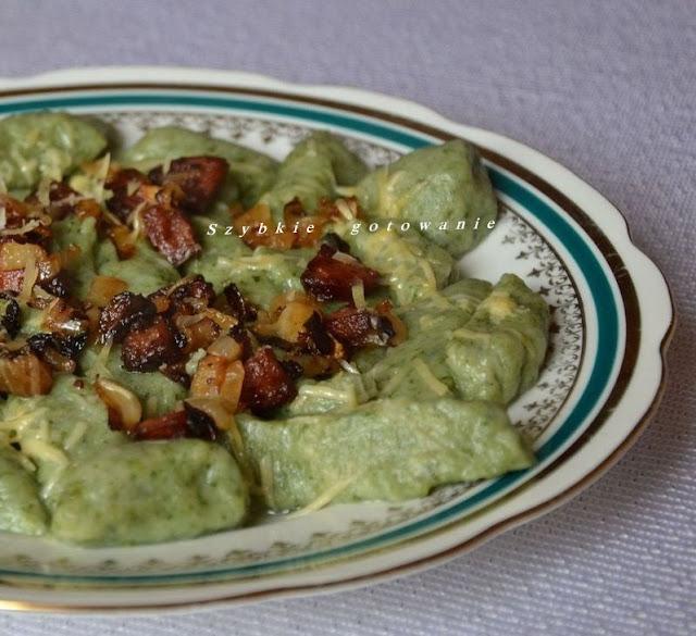 Zielone kopytka z serem i szpinakiem