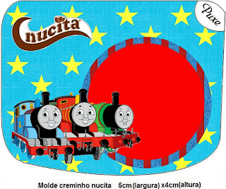 Thomas the Train Free Printable Nucita Labels.