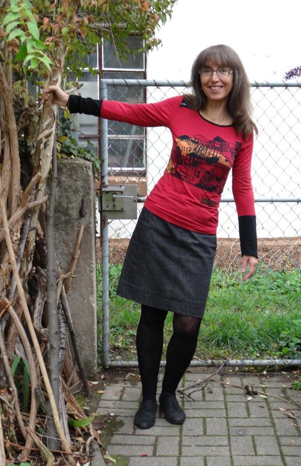Januarkleider: MMM Westwood-inspiriertes Shirt und Jeansrock