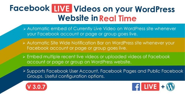 Facebook Live Video Auto Embed for WordPress v3.0.7