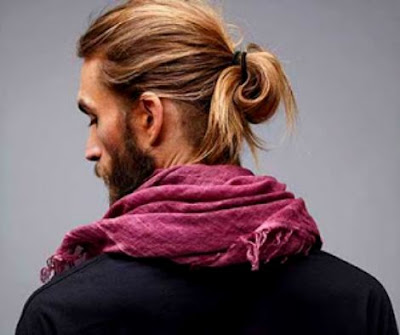men's long hairstyle - Top Knot Hairstyles