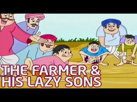 The farmer & his Lazy Sons Animated Stories for Children