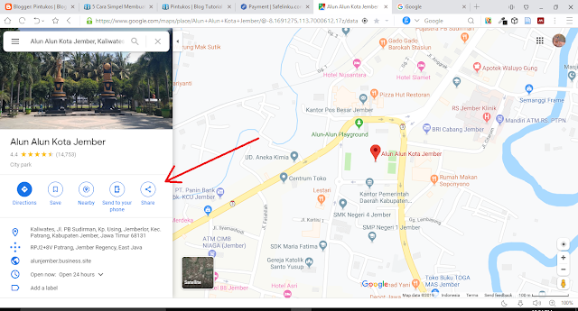 Cara Memasang Google Map di Blogger 1