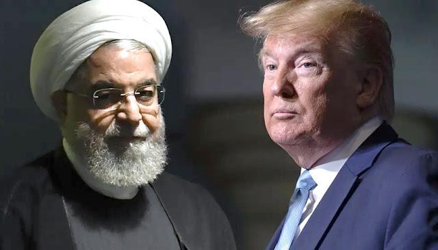 Presidente Donald Trump y Hassan Rouhani
