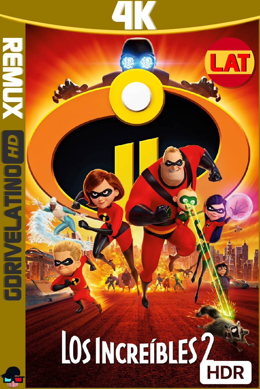 Los Increíbles 2 (2018) BDRemux 4K HDR Latino-Ingles MKV