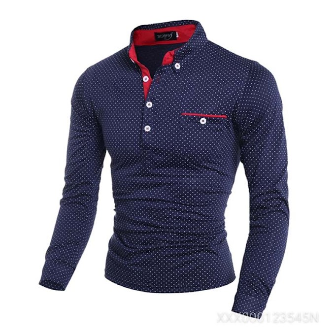 Men's Casual Slim Long Sleeved Shirt