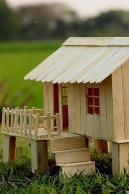 cara membuat rumah dari stik yang mudah