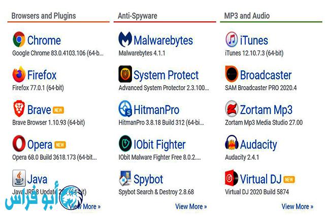 مواقع آمنة لتحميل كل برامج الحاسوب مجانا