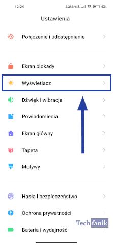 Ustawienia w telefonie Xiaomi