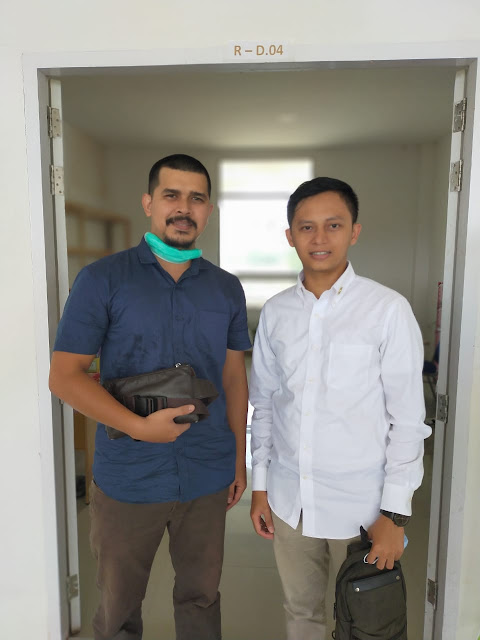 Syaiful Madu bersama Asisten Stafsus Presiden Jokowi