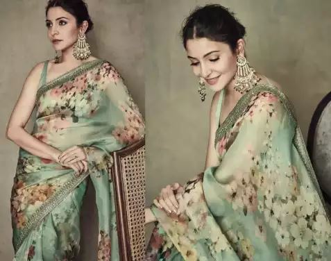 anushka-sharma-latest-look-in-green-saree