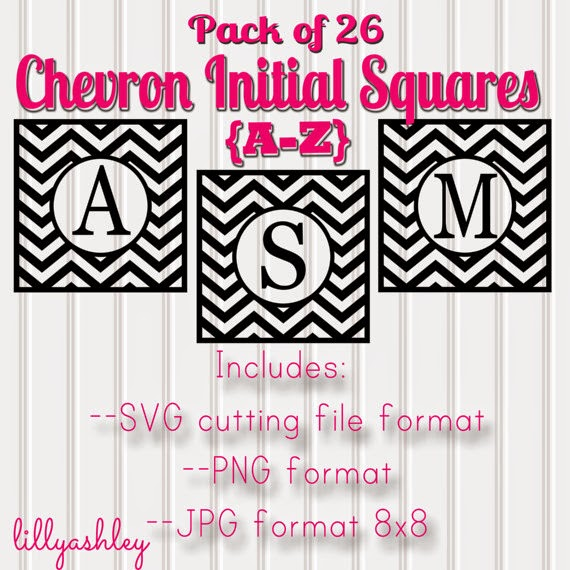 Personalized Chevron Name Initial