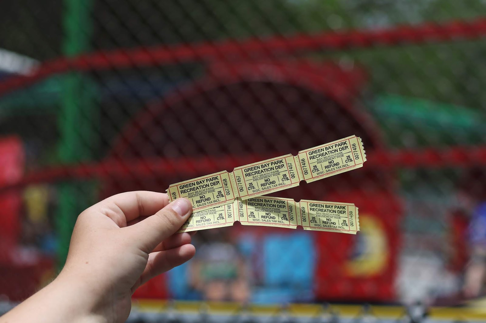 carnival tickets, tilt-a-whirl tickets, blog, travel blog, Wisconsin summer fun, explore Wisconsin, Zippin Pippin', wood roller coaster, cotton candy, theme park