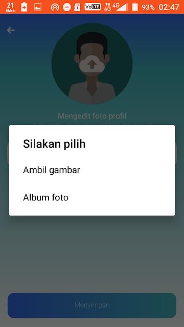 Cara mengubah foto profil di Yooul