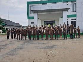 Hari Pertama Kerja, Kejari Muaro Jambi Gelar apel Pagi Cek kehadiran Pegawai