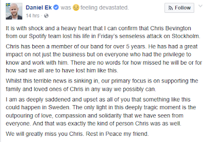 Spotify Executive Chris Bevington dies in Stockholm attack