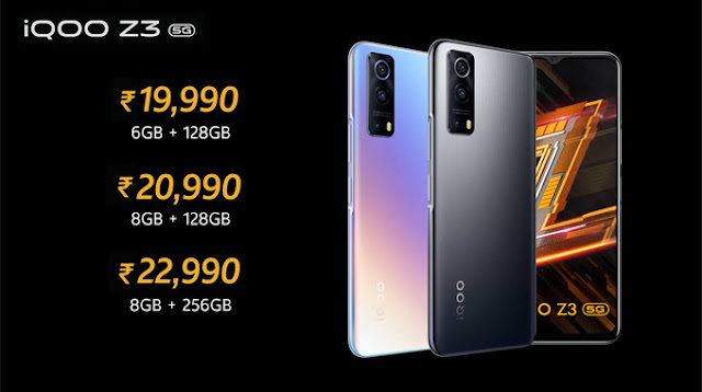 iQOO Z3 5G Launched: Prices starts from Rs. 19,990 - Sale live on Amazon   TechNeg