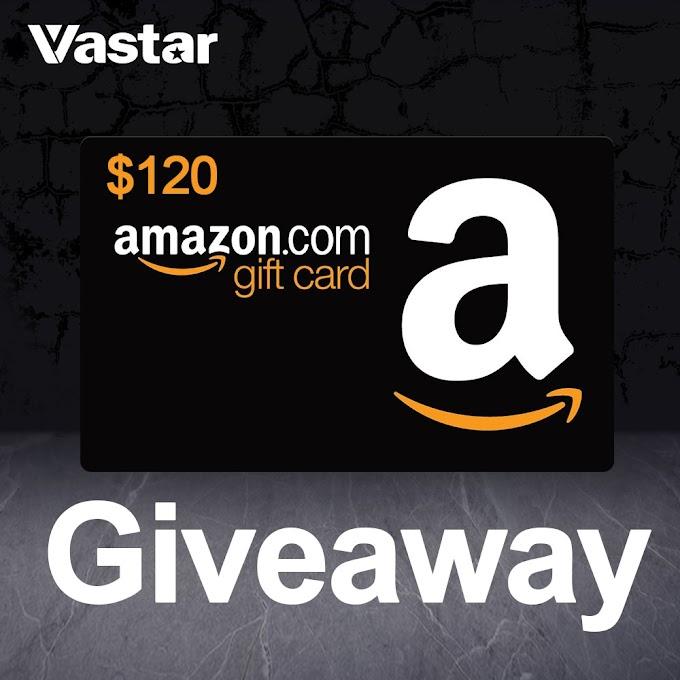 Sorteio Gift Card Amazon $120
