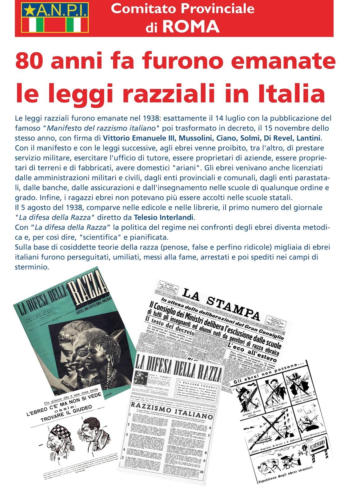 A n p i provinciale di roma 80 anni fa furono emanate le for Chi fa le leggi in italia