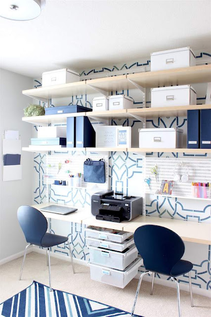 Modern Homework Station and Craft Room Storage and Organization Ideas