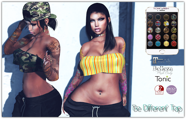 'Be Different' Top @ HUD (20 different texture)