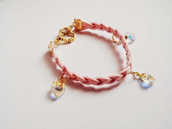For Sale : Sweet Swarovski Handmade Braided Bracelet