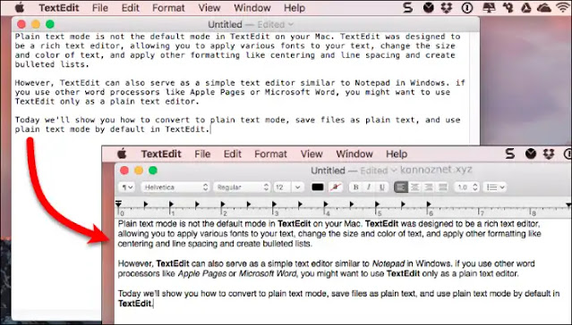 برنامج TextEdit