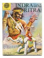 Indra gegen Vritra Comic