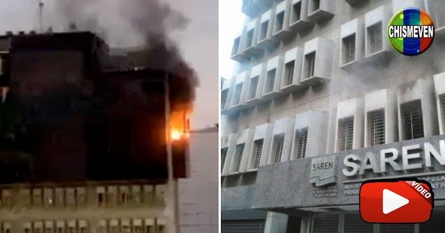 Se quemó el Servicio de Registros y Notarías SAREN en Altamira