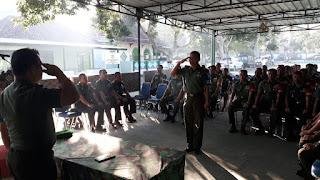 Kasrem 162/WB Buka Latihan Gladi Posko I Kodim Loteng Dalam Rangka Menanggulangi Bencana Alam