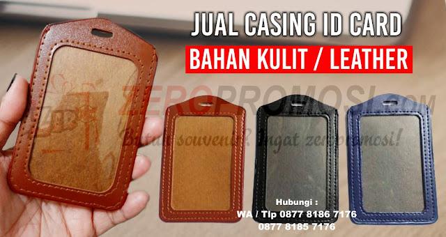 Casing id card kulit, Card holder Leather, Tempat Id card Kulit, Casing id card semi kulit, Name Tag Kulit