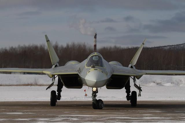 Sukhoi PAK-FA T-50 Front Angle