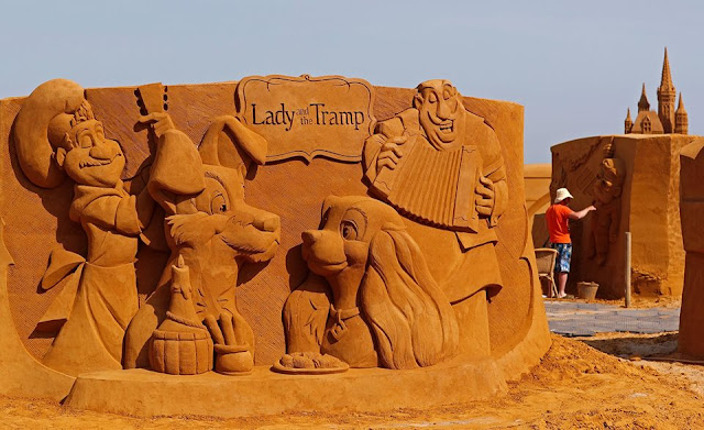"Disney Sand Magic"" Sculpture Festival opened in Ostend, Belgium"
