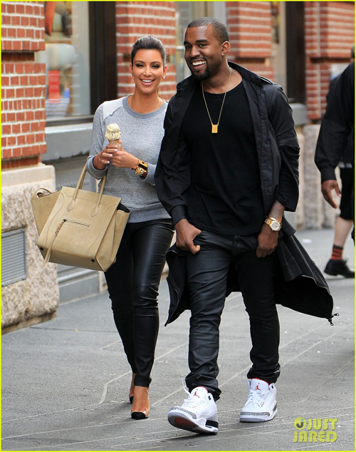 0d05624b05ec51 KIM K and KANYE spotted wearing Jordans ) SUUUUUUPPPPEEERRR CUTE!