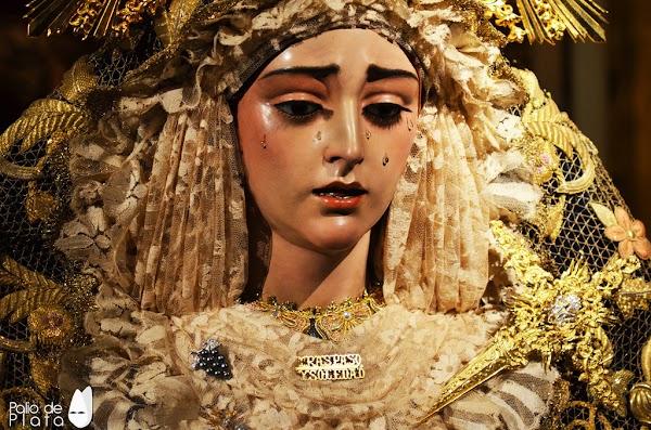 Horario e Itinerario Rosario de la Vespertino de la Virgen del Traspaso y Soledad de Viñeros. Málaga 12 de Octubre del 2021