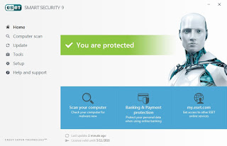 Tutorial Aktivasi ESET Smart Security 9 Full Version
