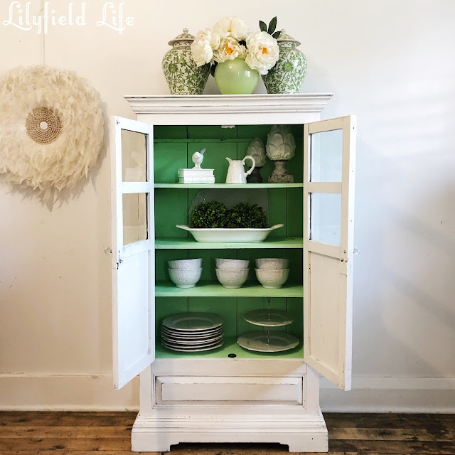 vintage indian cabinet - green white Lilyfield Life