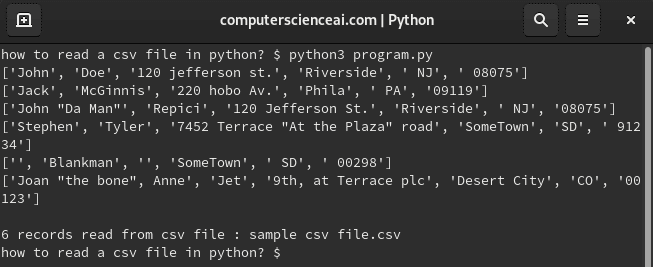 How To Read Csv In Python