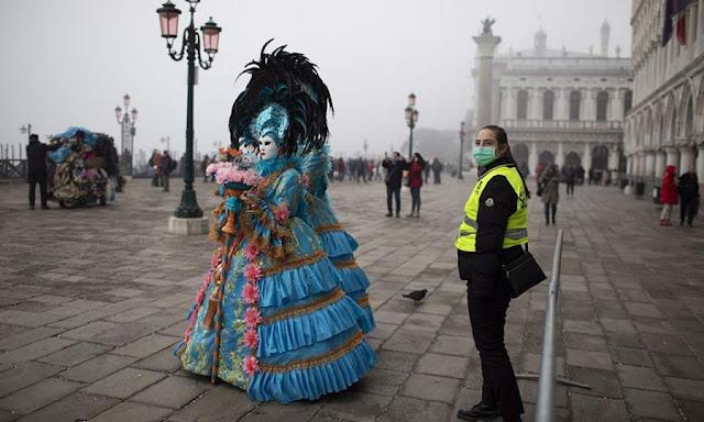 Ο κορωνοϊός βάζει τέλος στο καρναβάλι της Βενετίας - Στα 130 τα κρούσματα