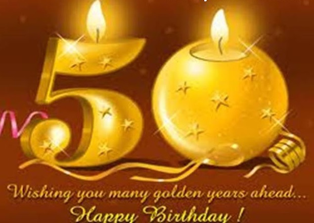 Cool Happy 50th Birthday Wishes - Best 50th Birthday Messages