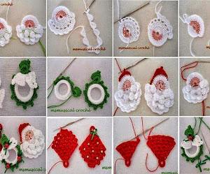 Ideas de adornos navideños para tejer al crochet / patrones y paso a paso