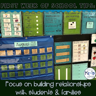 Tips for the First Week of School in a Special Education Classroom