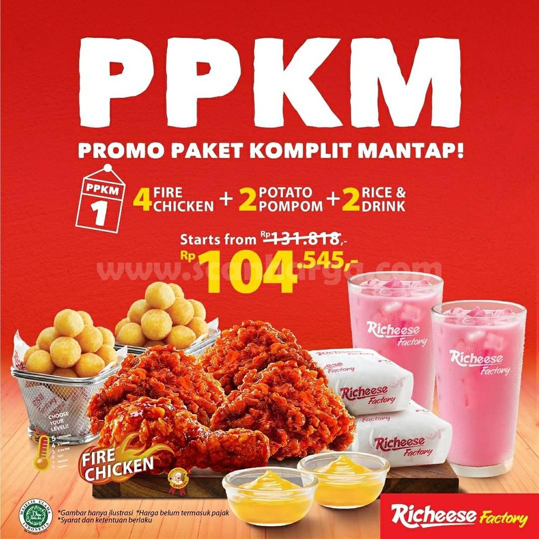 Richeese Factory PPKM (Promo Paket Komplit Mantap) harga mulai Rp. 104.545