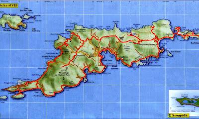 Carte de Tortola archipel des îles vierges britanniques