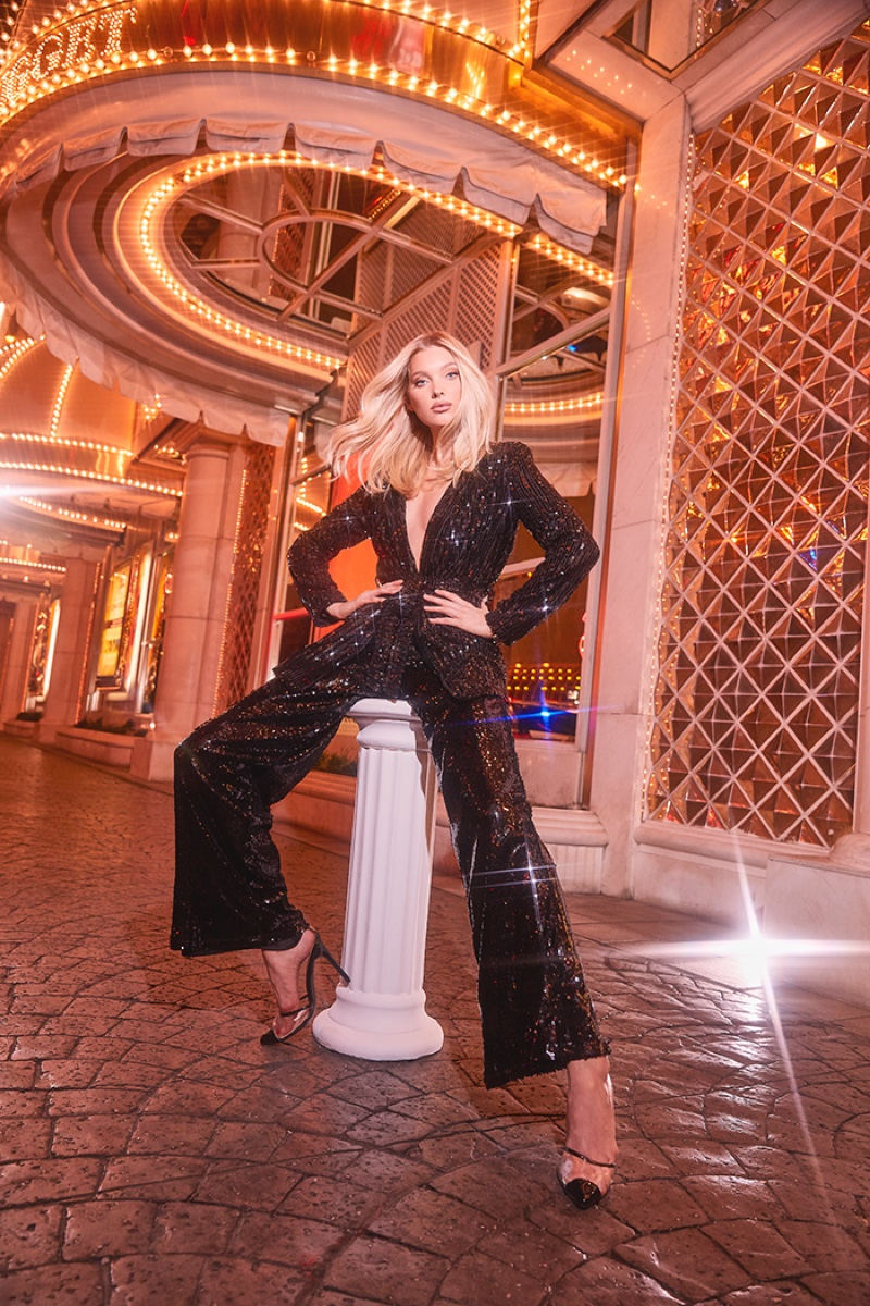 Elsa Hosk fronts Boohoo holiday 2019 campaign
